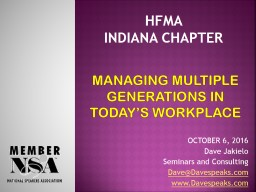 MANAGING MULTIPLE GENERATIONS IN TODAY'S WORKPLACE