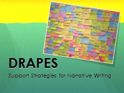 DRAPES Support Strategies for Narrative Writing