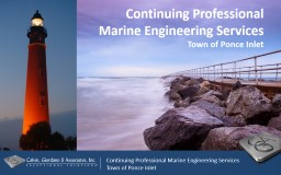 Continuing Professional Marine Engineering Services