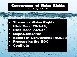 Conveyance of Water Rights
