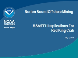 Norton Sound Offshore Mining: