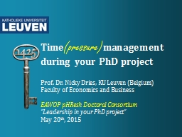 Time (pressure) management during your PhD project