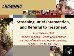 Screening, Brief Intervention, and Referral to Treatment