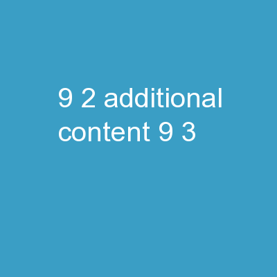 9-2 Additional Content 9-3