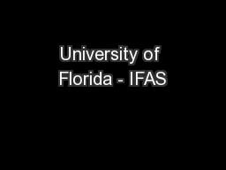 University of Florida - IFAS
