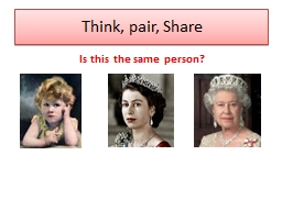 Think, pair, Share Is this the same person?