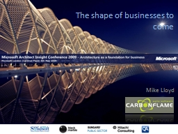The shape of businesses to come