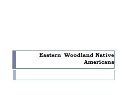 Eastern  Woodland Native PowerPoint PPT Presentation