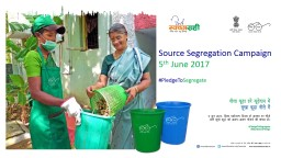 Source Segregation Campaign