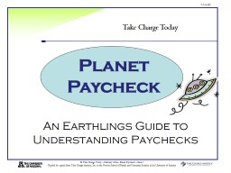 An Earthlings Guide to Understanding Paychecks
