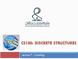 CS100: Discrete structures