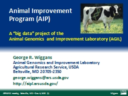 Animal Improvement  Program (AIP)