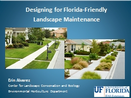 Designing for  Florida-Friendly