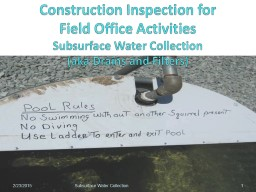 Construction Inspection for