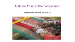 AQA say it's all in the comparison!