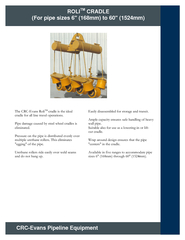 Page  of  ROLI TM CRADLE For pipe sizes  mm to  mm CRC PDF document - DocSlides