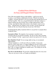 PM Cradled Prime Rib Roast An Easy and Elegant Dinne