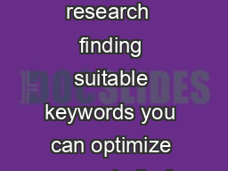 What is keyword research  finding suitable keywords you can optimize your website for