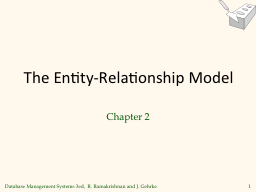 The Entity-Relationship Model PowerPoint PPT Presentation