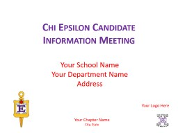Chi Epsilon Candidate Information Meeting