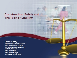 Construction  Safety and The Risk of Liability