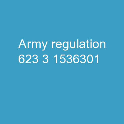Army Regulation 623-3