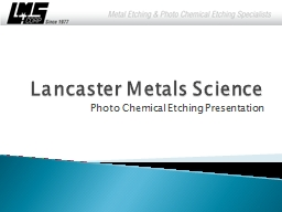 Lancaster Metals Science