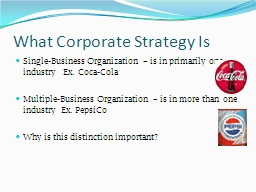 What Corporate Strategy Is
