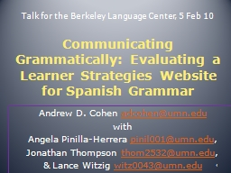 Talk for the Berkeley Language Center, 5 Feb 10