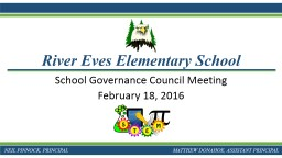 School Governance Council Meeting