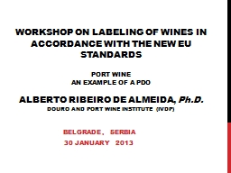 Workshop on labeling of wines in accordance with the new eu standards