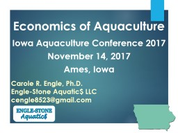 Economics of Aquaculture