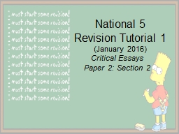 National 5 Revision Tutorial 1