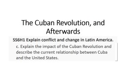The Cuban Revolution, and Afterwards PowerPoint PPT Presentation