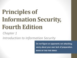 Principles of Information Security,