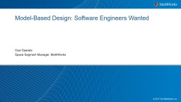 Model-Based Design: Software Engineers Wanted