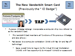 Purpose: ID Badge redesign incorporates a computer chip now referred to as the Vanderbilt Card.