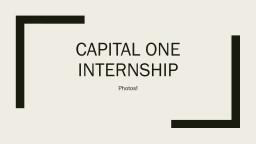 Capital One Internship Photos!