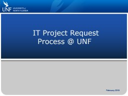 IT Project Request Process @ UNF