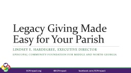 Legacy Giving Made Easy for Your Parish