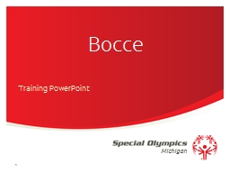 Bocce Training PowerPoint