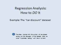 Regression Analysis: How to