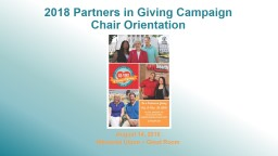 2018 Partners in Giving Campaign