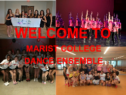 WELCOME TO MARIST COLLEGE