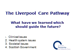 The Liverpool Care Pathway