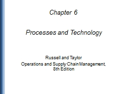 Processes and Technology PowerPoint Presentation, PPT - DocSlides