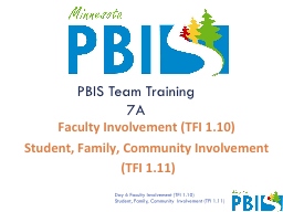 Faculty Involvement (TFI 1.10) PowerPoint Presentation, PPT - DocSlides