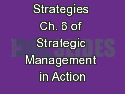 Corporate Strategies Ch. 6 of Strategic Management in Action PowerPoint Presentation, PPT - DocSlides