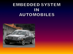 EMBEDDED SYSTEM IN AUTOMOBILES PowerPoint Presentation, PPT - DocSlides
