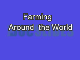 Farming  Around  the World